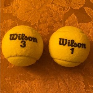 Lightly used tennis balls